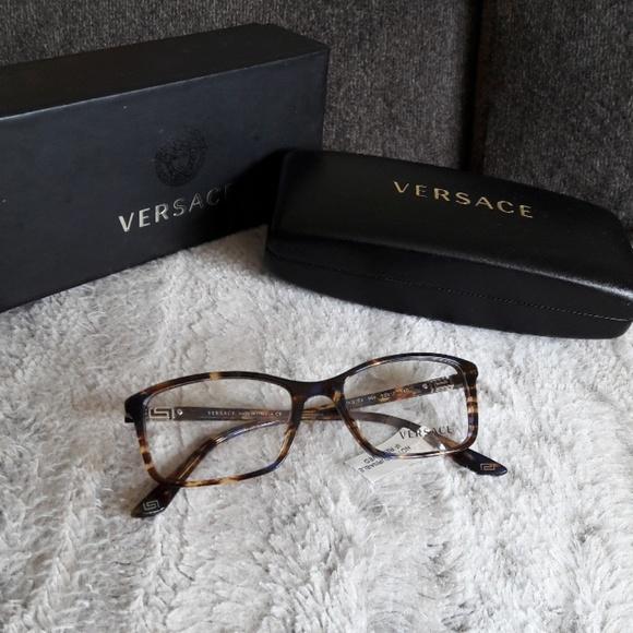 67500b3d8e94 Versace Accessories | Womens Blue Tortoise Glasses With Case | Poshmark